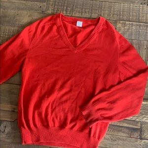 Crewcuts red v-neck sweater size 8